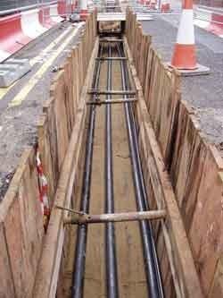 مواد بستر ساز در نصب کابل