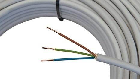 Start wiring cables under plaster